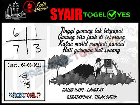 Syair Togel Yes Macau Jumat