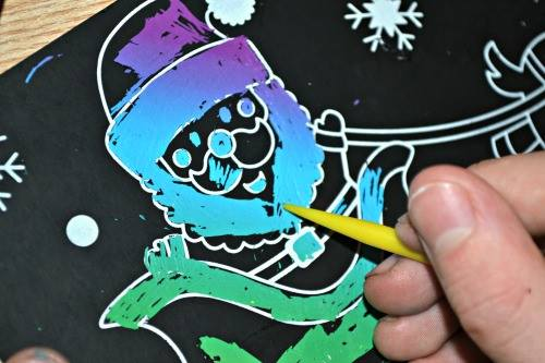 Christmas Scratch Art Scenes review