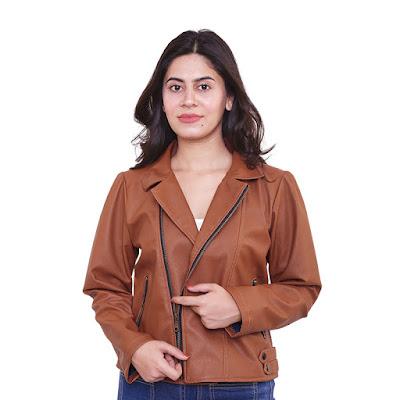 Jaket Semi Kulit Wanita Catenzo NU 149