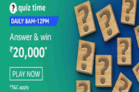 Amazon Quiz Time Daily @ 8AM-12PM on 10 Feb 2021