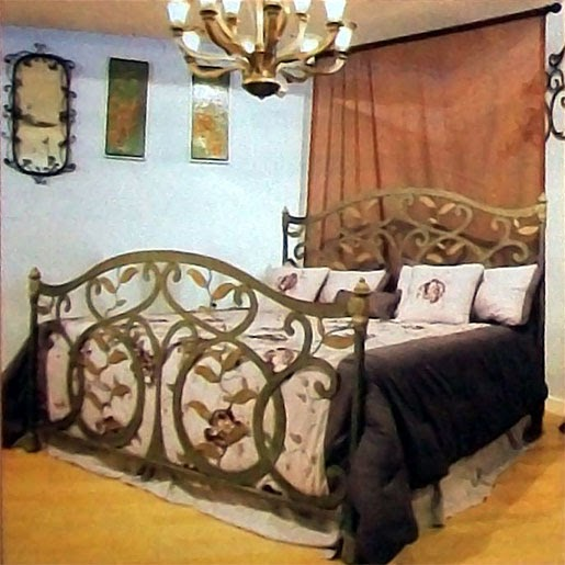 Home And Interior Design Artistic Bedroom With Wrought Iron