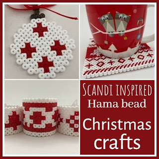 Scandi inspired Hama bead Christmas crafts