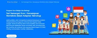 Jawaban Kuis Pelajaran Pelajaran 1 Resilience Tangguh & Teknologi  Program Guru Belajar Seri Semangat Guru