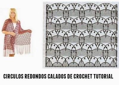 Circulos calados de crochet tutorial