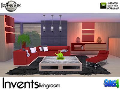Invents Living Room Invents Гостиную для The Sims 4 Современная гостиная. в 5 цветовых вариациях Сочетание жанра и стиля, сохраняя современную сторону. в этом наборе. 1 диван 1 шезлонг, но его место для сидения. подушки деко1 для дивана. подушки деко 2 для дивана. 1 свечный стол. 1 потолочный светильник металлический. 1 этаж завода. 1 консольный дек. 1 журнальный столик, часть металла. 1 новая книга деко для консоли. создан только для этого. и 1 декоративный чайный сервиз. изменение цвета микрофона. современная линия для этого набора Создайте свой теплый уголок. Автор: jomsims
