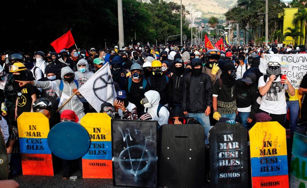 A pocos días del 28J, arrestan a 134 personas en Colombia vinculadas al colectivo Primera Línea