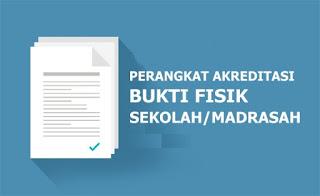 Download Bukti Fisik akreditasi 119 Butir SD/MI 2019/2020 Sesuai Sispena
