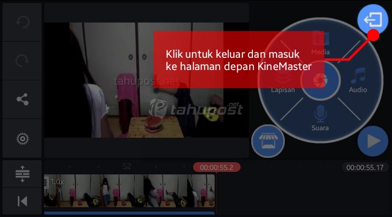Menyimpan Video di KineMaster