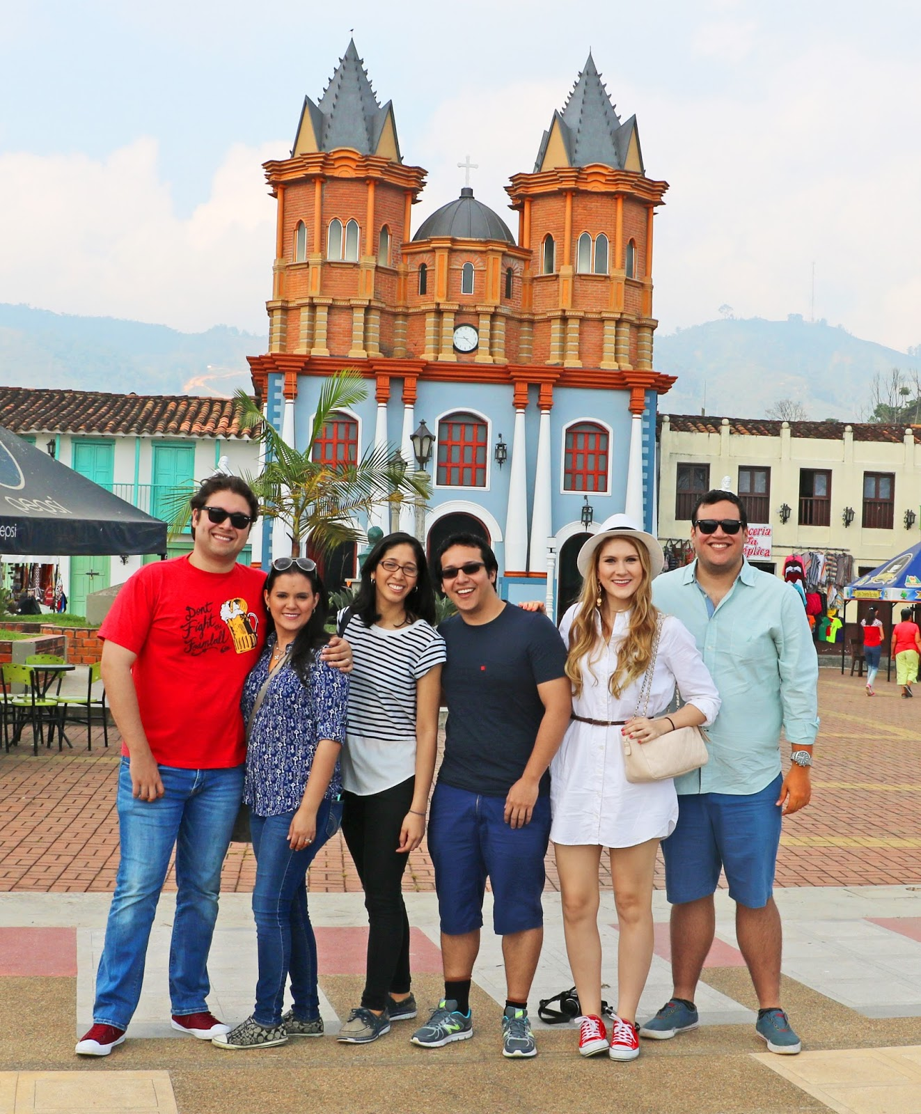 Cute church in Medellin, Colombia