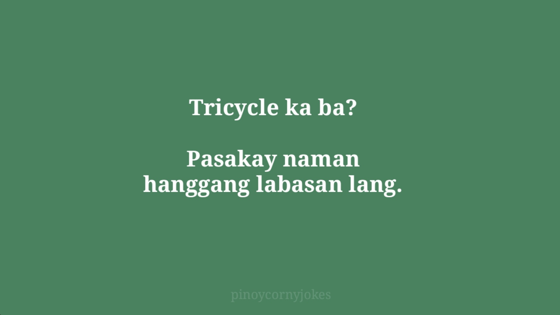 tricycle green jokes tagalog