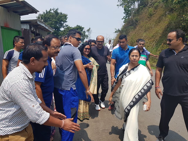 West Bengal chief Minister Mamata Banerjee in Kalimpong