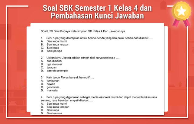 Soal SBK Semester 1 Kelas 4 dan Pembahasan Kunci Jawaban