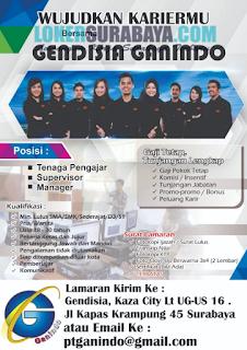 Loker Surabaya Terbaru di Gendisia Ganindo Juni 2019