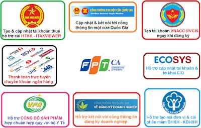Các dịch vụ công chữ ký số FPTCA hỗ trợ