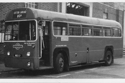 London Transport MXX 7 80A Sutton Garage 1950s
