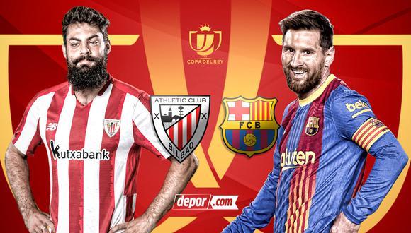 Barcelona vs. Athletic Bilbao EN VIVO: canales TV por final de Copa del Rey