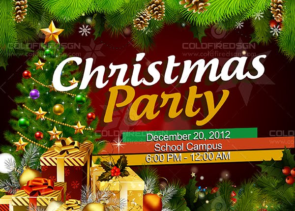 Christmas Party Banner Psd Coldfiredsgn