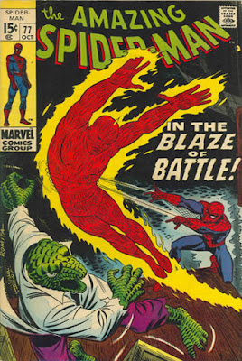 Amazing Spider-Man #77, the Human Torch and the Lizard