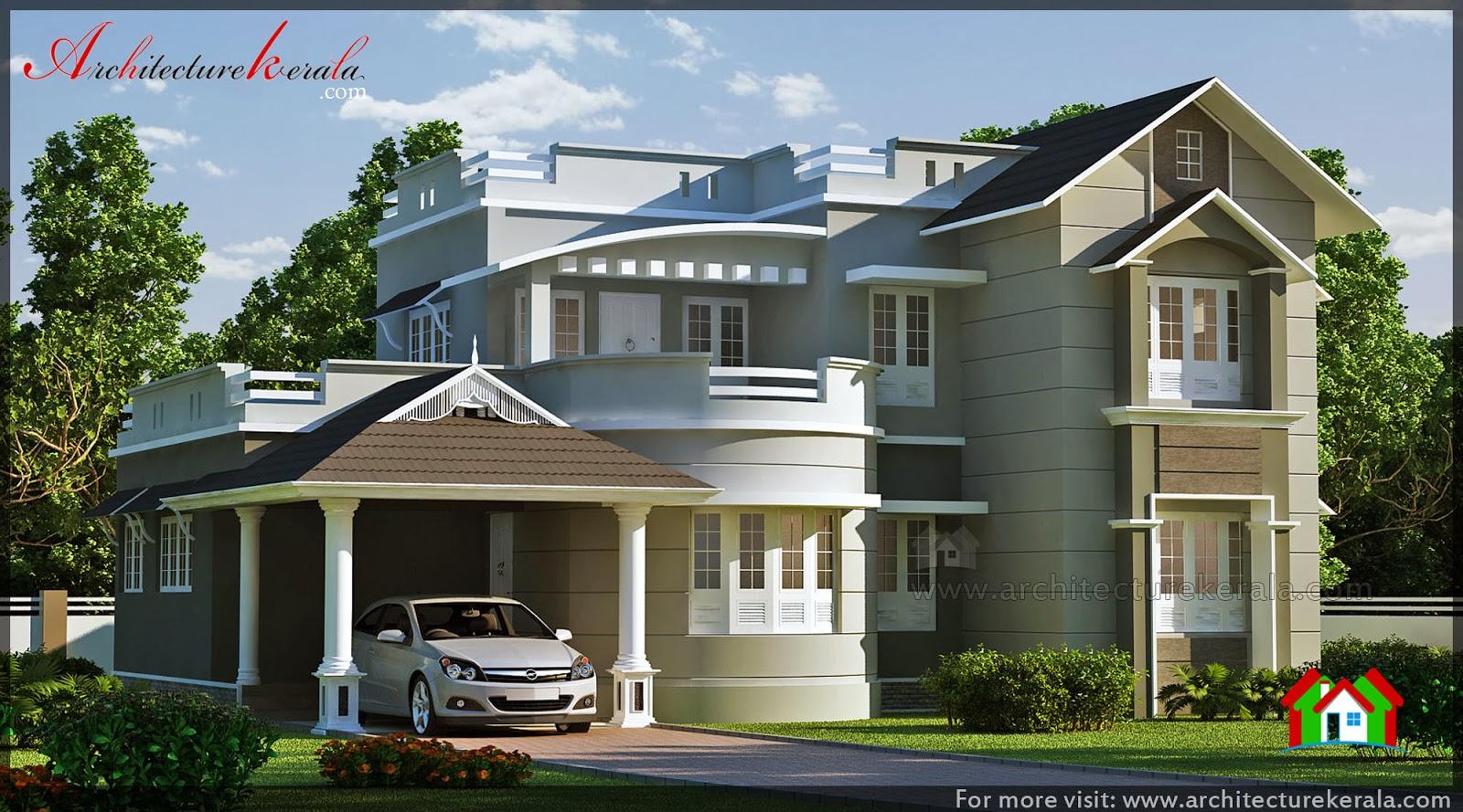good looking house design architecture kerala. Black Bedroom Furniture Sets. Home Design Ideas