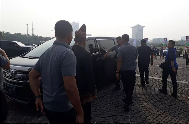 Merasa Terganggu, SBY Walk Out dari Acara Deklarasi Kampanye Damai