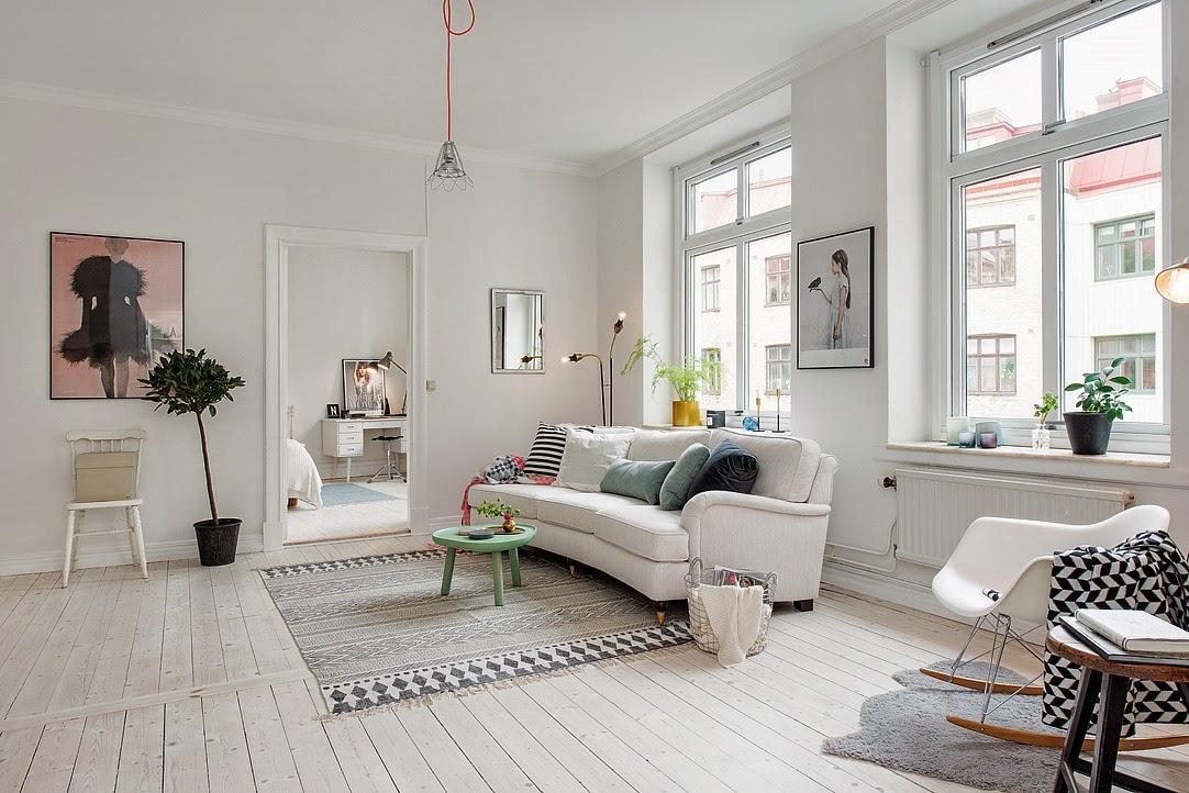 Scandinavian Home Fjeldborg Blog: My Scandinavian Home: The Blonde Nordic Apartment