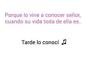 Patricia Teherán Tarde Lo Conocí significado de la canción.