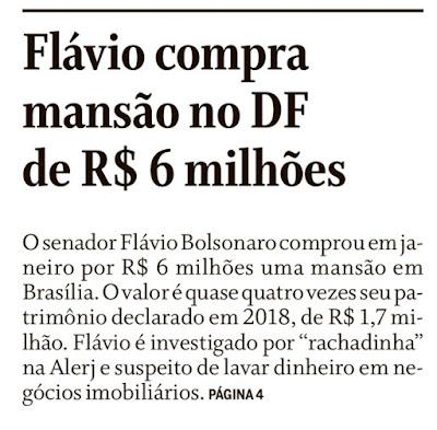 """Resumo da bagaça Poucas prostitutas ganharam tanta grana com suas """"rachadinhas"""" como o Flavito Bozo com as suas na Alerj."""