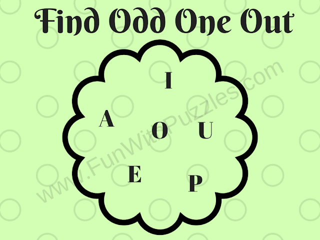 Letters Odd One Out Easy Picture Puzzle