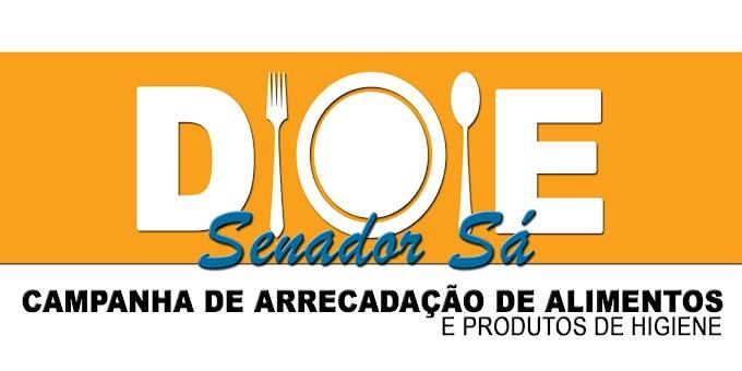 Imprensa de Senador Sá faz campanha para arrecadar alimentos. Participe!