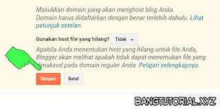 Menyimpan Nama Domain Yang Sudah Siap di Blogger