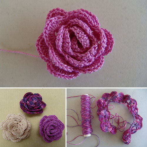 Strip Method Crochet Rose - Free Pattern