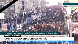 Corpo de general chega ao Irã