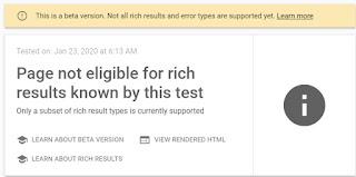 Rich Result Test - Beta