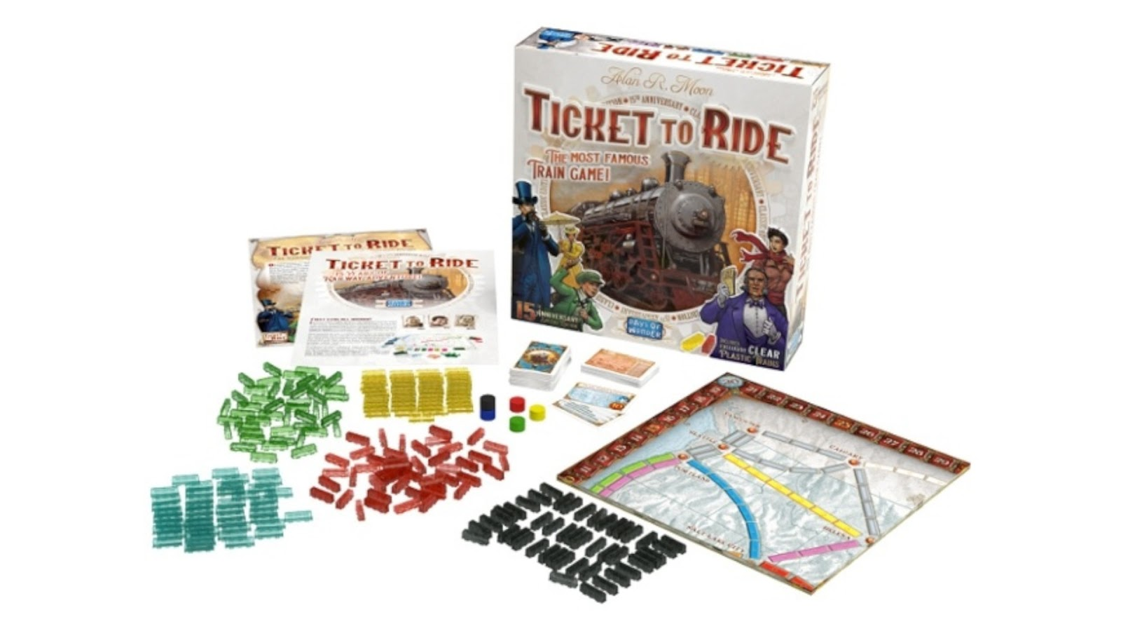 News Collider Board Game News Ticket To Ride 15th anniversary special edition