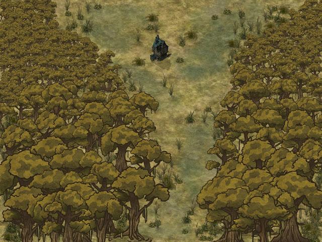 Aventura de Halloween para Dungeons & Dragons - Naturaleza Muerta - Cuadro Pantano