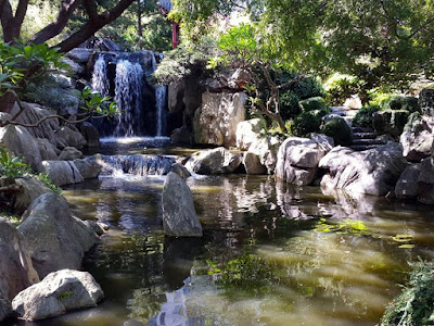 Waterfall at Chinese Garden of Friendship Darling Harbour