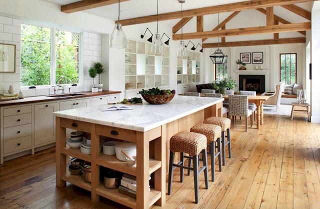 Wystrój kuchni w stylu retro, wiejskim, vintage