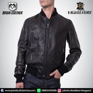 jaket kulit pria korea