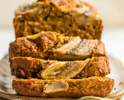 FLUFFY VEGAN BANANA BREAD (GLUTEN-FREE, 9 INGREDIENTS!) #healthydessert #veganrecipes
