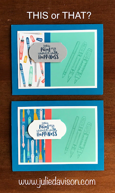 This or That? Stampin' Up!  It Starts With Art Card + Video with 75+ Card Ideas ~ 2019-2020 Annual Catalog ~ www.juliedavison.com