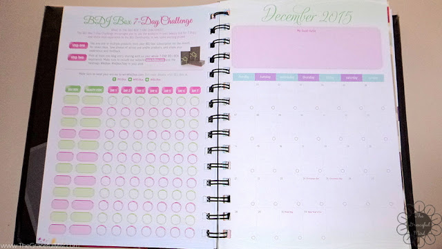 2016 Belle De Jour Power Planner:  BDJ Box 7-Day Challenge Page Picture (Review at http://www.TheGracefulMist.com/)