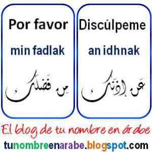 Por favor y disculpeme en Arabe