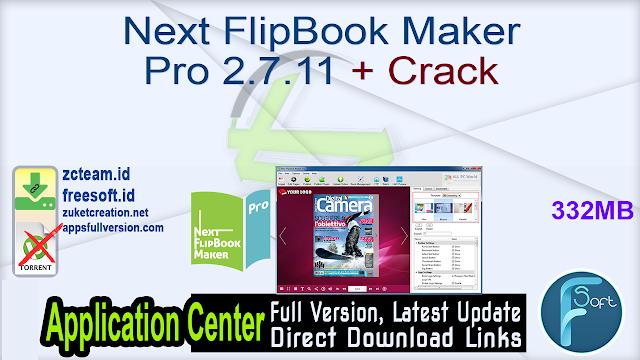 Next FlipBook Maker Pro 2.7.11 + Crack