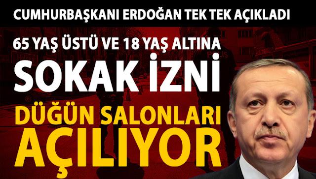 Recep Tayyip Erdoğan Yeni Kararlar