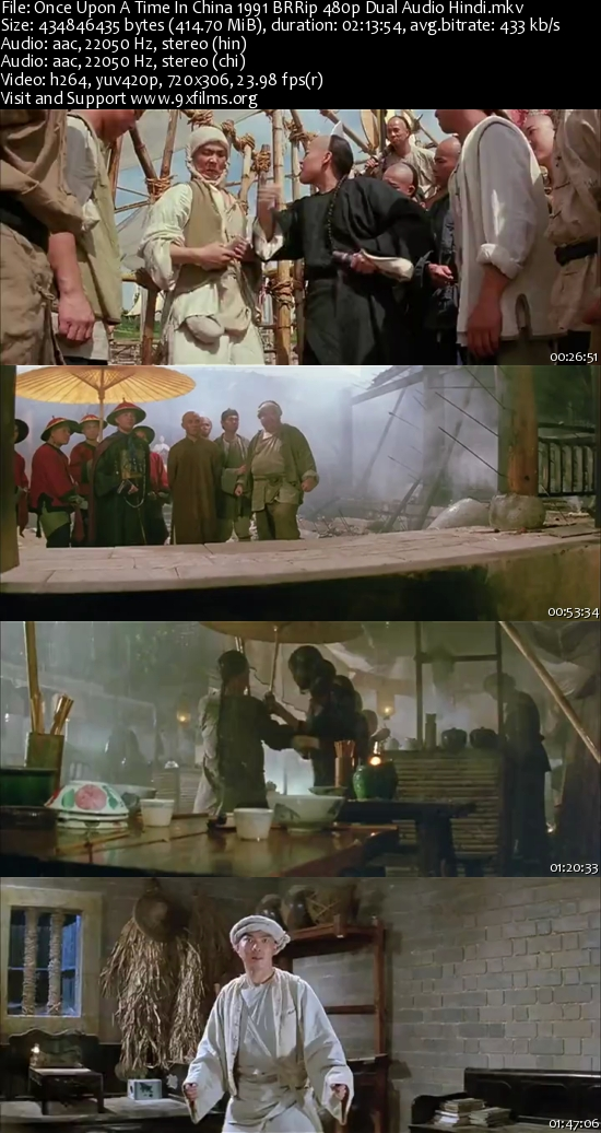 Once Upon A Time In China 1991 BRRip 480p Dual Audio Hindi