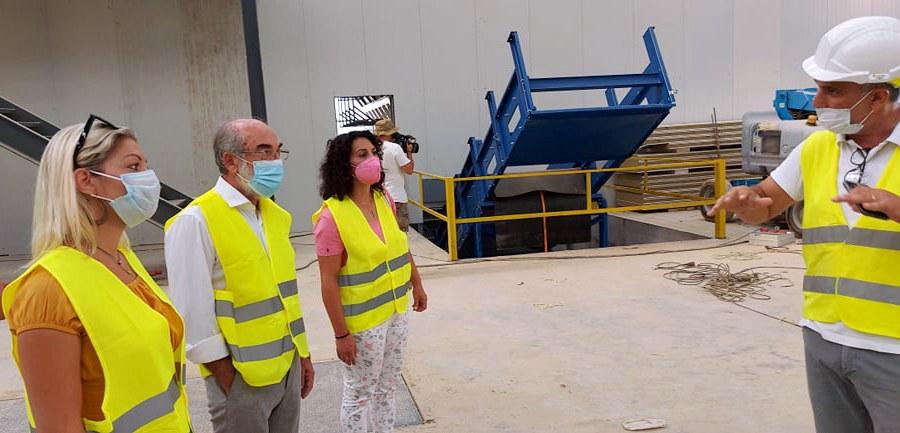 Επίσκεψη της παράταξης Λαμπάκη στο έργο της Μονάδας Επεξεργασίας Απορριμμάτων που σχεδίασε και δημοπράτησε