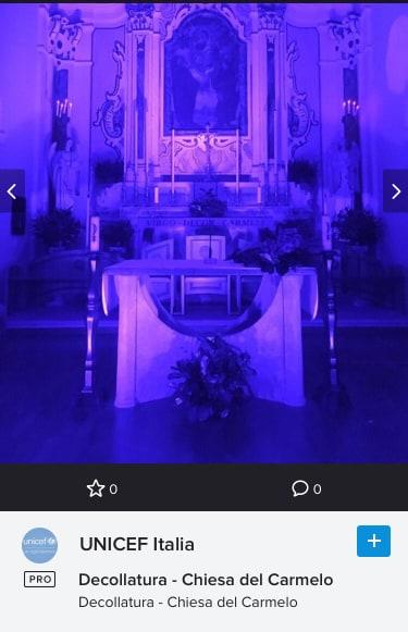 La Chiesa di Adami si colora di Blu per UNICEF