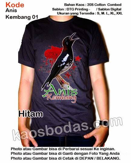 Kaos Anis Kembang 01 - Hitam
