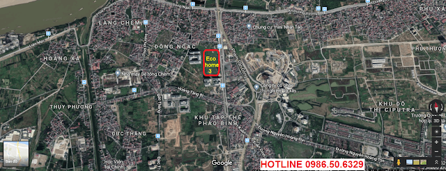 Vị trí chung cư Ecohome 3- Đông Ngạc