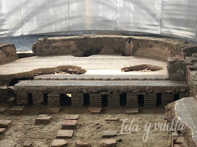 Villa Romana de La Olmeda habitación con calefacción